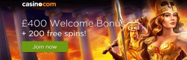 Casino.com UK Welcome Bonus
