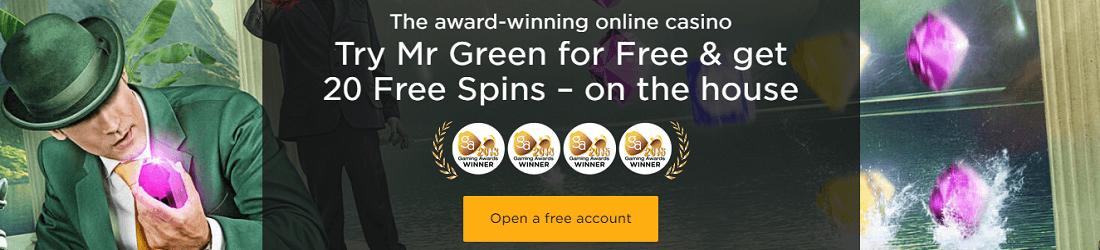 Mr Green 20 Free Spins No Deposit Bonus
