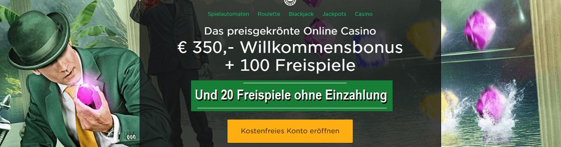 Mr Green 20 Gratis Freispiele Bonus