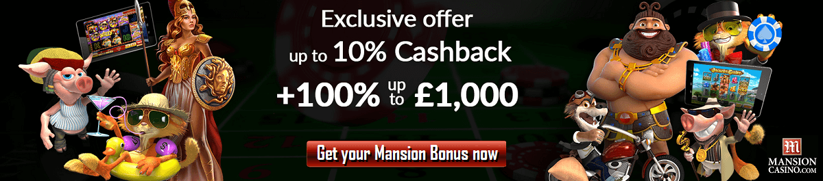 Mansion Casino Bonus Code