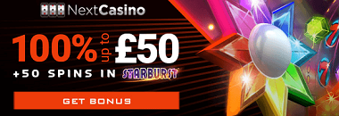 Next Casino UK New Player Welcome Bonus
