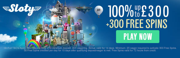 Sloty Casino UK New Player Welcome Bonus