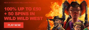 Wild Slots UK New Player Welcome Bonus