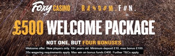 Foxy Casino UK Welcome Bonus