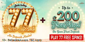 777 Casino UK Bonus Spins