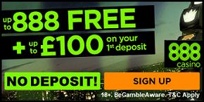888 Casino Spin & Win UK No Deposit Bonus UK