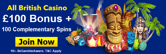 All British Casino UK Free Spins Bonus