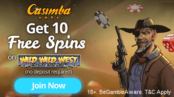 Casimba UK Free Spins Casino Bonus