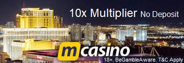 MCasino Free Bonus 10xMultiplier