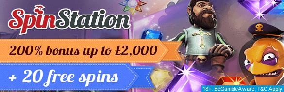 Spinstation UK Casino Sign Up Bonus