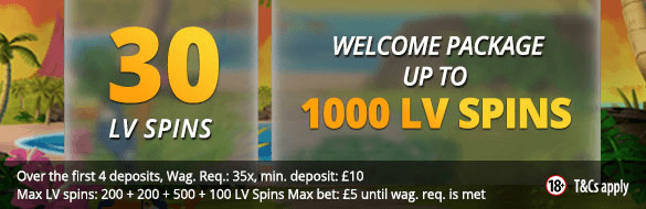 LVbet Casino LV Spins No Deposit