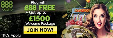 888 Casino Free £88